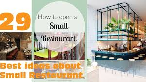 Best Ideas About Small Restaurant Design YouTube - Interior design ideas for restaurants