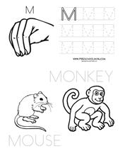 letter m preschool printables