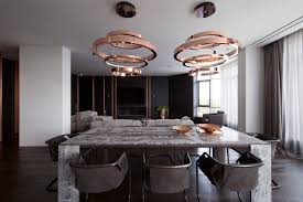 M Interior Design by A Family U0027s Kiev Apartment Is Filled With Copper Marble And A
