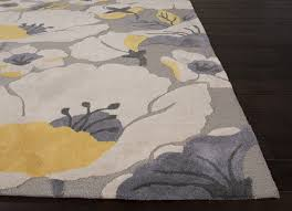 Floral Pattern Rugs Jaipur Rugs Modern Floral Pattern Gray Yellow Polyester Area Rug