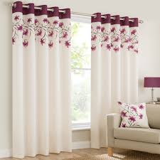 Magenta Curtain Panels Mirabel Lily Floral Luxury Curtain Panels With Grommets And