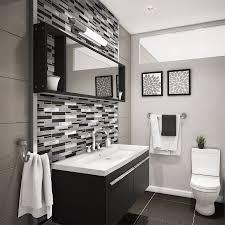 aluminum glass tile backsplash carbon blend bathroom tile ideas