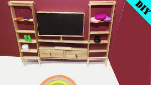 Dollhouse Kitchen Furniture Popsicle Stick Craft Diy Miniature Living Room Dollhouse Ideas