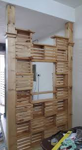 Office Room Divider Diy Pallet Office Room Divider