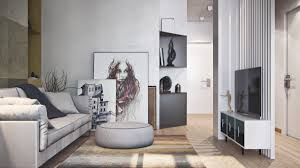 simple apartment design using soft color decor will bring a