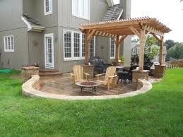 House Plans With Outdoor Living Space Interesting Diy Fire Pit And Patio Ideas Gallery With Custom Back