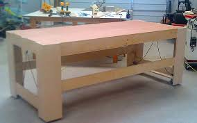 Tool Bench Plans Rolling Work Bench Plans Pdf Woodworking Workshop Bench Treenovation