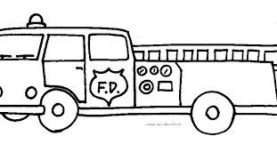easy fire truck coloring pages book gekimoe u2022 46392