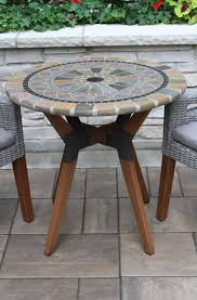 Mosaic Bistro Table 30 Sandstone Mosaic Bistro Table Top With Mixed Material Base