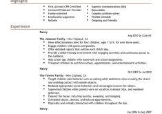 Nanny Resume Example cozy ideas resume example for college student 13 17 best ideas