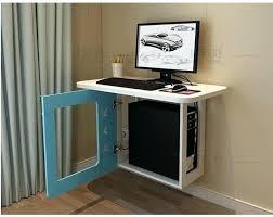 Small Wall Desk Space Saver Computer Desks Small Family Model Bedroom Wall Desk