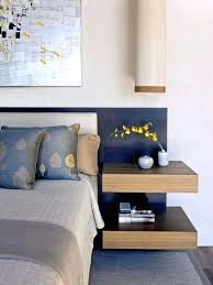 minimalist bedside table floating bedside table a double floating wooden looks minimalist and