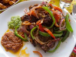 cuisine dishes file ghanaian roast goat cuisine dish food jpg wikimedia commons
