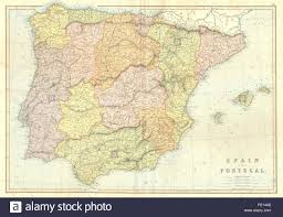 Portugal Spain Map by Map Spain Portugal Iberia Stock Photos U0026 Map Spain Portugal Iberia
