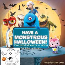 halloween printable activities monsters aliens kung fu panda