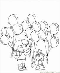 dora explorer coloring pages print kids coloring