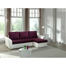 canap aubergine canapé d angle convertible aubergine blanc neptun achat vente