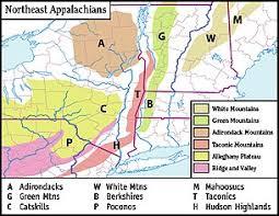 appalachian mountains on map white mountains hshire