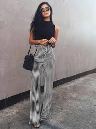 pintrest wide striped wide leg pant what to wear work polished looks for day