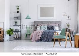 comfortable powder pink chair next shelf stock photo 726726967