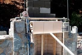 Building Outdoor Fireplace With Cinder Blocks by Building Outdoor Fireplace Cinder Block Building Outdoor Fireplace