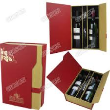 Wine Gift Boxes China Double Paper Wine Gift Box Fancy Paper Wine Box China