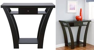 Black Console Table With Drawers Black Console Table For Decorative Items Exist Decor