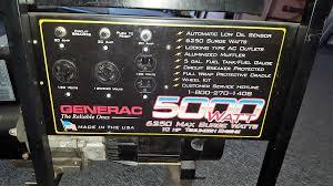 generac 5000 watt generator airport auto rv pawn