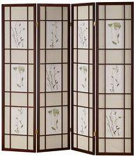 Panel Shoji Screen Room Divider - 4 panel shoji screen room divider with cherry finish privacy