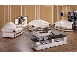 Classic Cream Leather Sofa Set - Cream leather sofas