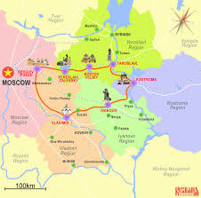 Moscow Map Golden Ring Of Russia Rusmania
