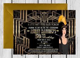 great gatsby wedding invitations wedding invitations great gatsby wedding invitation photo from