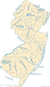 map new map of new jersey lakes streams and rivers