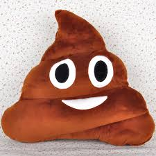 funny emoticon emoji poo shape pillow cushion stuffed toy home