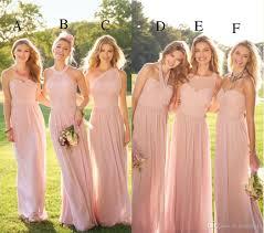 cheap pink bridesmaid dresses 2017 pastel pink cheap lace chiffon bridesmaid dresses mixed