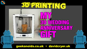 Wedding Gift To Wife 3d Printing My Wedding Anniversary Gift For My Wife 3dprinting