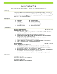social worker resume template social worker resume template behavior specialist
