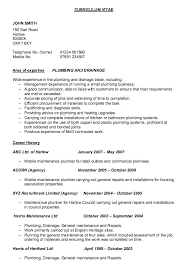 Example Of Resume Form by Example Of Resume Plumber Http Resumesdesign Com Example Of