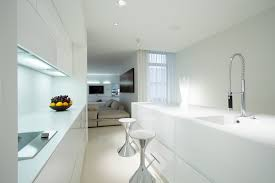 Modern White Kitchen Designs Kitchen Design Modern White Kitchen Design With Eat In Bar