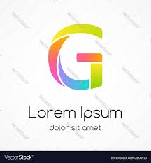 logo letter g company design template royalty free vector