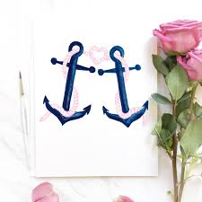 Hand Painted Love Anchors The - current project taylor jeffrey mospens studio fine art custom