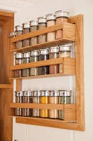 Wooden Spice Cabinet With Doors How To Install A Spice Rack In Solid Wood Kitchens Solid Wood