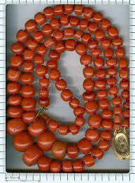 coral beads necklace images Dutch two string coral bead necklace with extraordinary size beads jpg