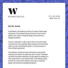 create company letterhead free letterhead templates sample