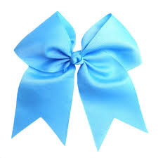 blue bows sky blue cheer bow cutie bowtutie