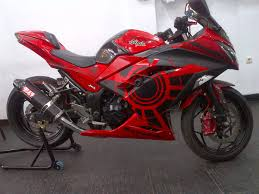 modifikasi motor kawasaki ninja 250 fi merah modifikasi motor