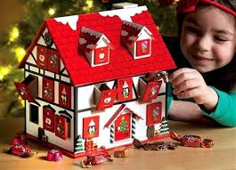 3d wooden house advent calendar countdown to christmas brand new
