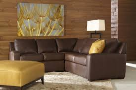 American Casual Living by Living Room Adorable Chic Black Leather And Mocha Microfiber