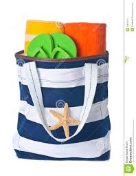 flip flop bag bag with towels and flip flop stock images image 19612714