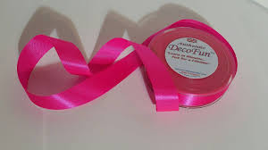 pink satin ribbon shocking pink satin ribbon 1 inch width non fray cut edge 120 ft